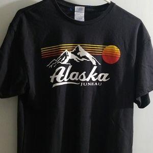 Alaska Juneau unisex black tshirt sz large